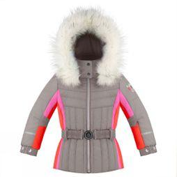 Poivre Blanc Girl's Ski Jacket Soba Brown/Multi
