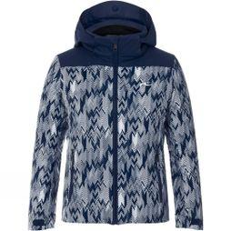 KJUS Girls Surface Jacket Age 14+ Atlanta Blue/ White