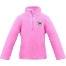 Poivre Blanc Girls Mini 1/4 Zip Fleece Fever Pink