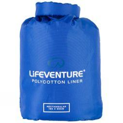 Lifeventure Poly cotton Rectangular Sleeping Bag Liner Navy