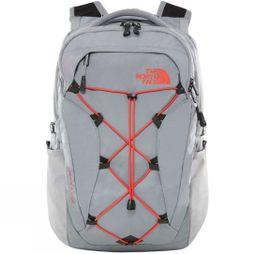 The North Face Womens Borealis Rucksack Mid Grey/Juicy Red