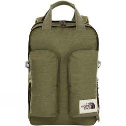 The North Face Mini Crevasse Backpack Four Leaf Clover Dark Heather/New Taupe Green Dark Heather