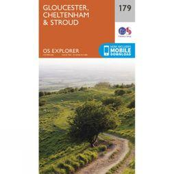 Ordnance Survey Explorer Map 179 Gloucester, Cheltenham and Stroud V15