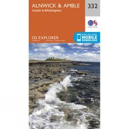 Ordnance Survey Explorer Map 332 Alnwick and Amble V15