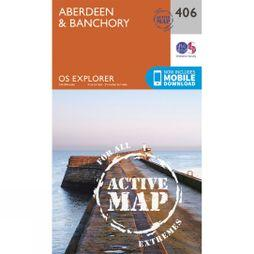 Ordnance Survey Active Explorer Map 406 Aberdeen and Banchory V15