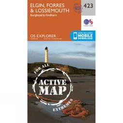 Ordnance Survey Active Explorer Map 423 Elgin, Forres and Lossiemouth V15