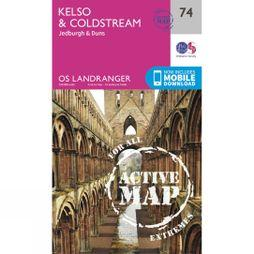 Ordnance Survey Active Landranger Map 74 Kelso and Coldstream V16