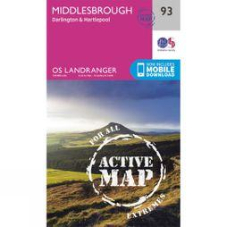 Active Landranger Map 93 Middlesbrough