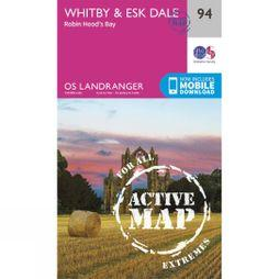 Ordnance Survey Active Landranger Map 94 Whitby and Esk Dale V16