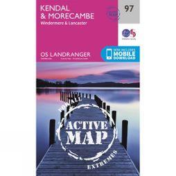 Ordnance Survey Active Landranger Map 97 Kendal and Morecambe V16