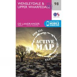 Active Landranger Map 98 Wensleydale and Upper Wharfedale