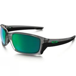 Oakley StraightLink Sunglasses Grey Ink/ Jade Iridium