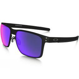 Oakley Holbrook Metal Sunglasses Matt Black +/Red Iridium