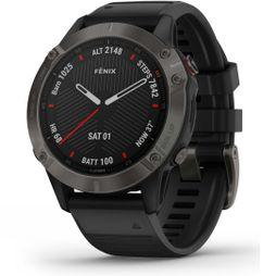 Garmin Fenix 6 Sapphire Multisport GPS Watch Grey/Black Band