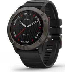 Garmin Fenix 6X Sapphire Multisport GPS Watch Carbon Grey DLC/Black Band