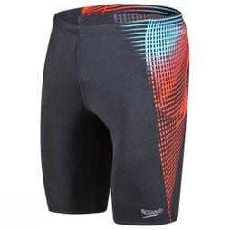 Speedo Placement Jammer Black/ Lava Red/ Light
