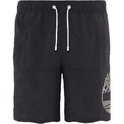 Timberland Mens Sunapee Lake Logo Swim Shorts Black