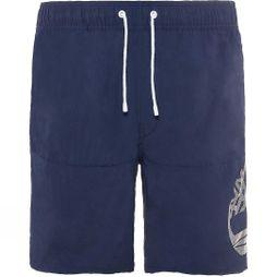 Timberland Mens Sunapee Lake Logo Swim Shorts Maritime Blue