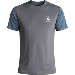 Quiksilver Men's Colour Blocked Surf T-Shirt Iron Gate