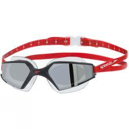 Speedo Mens Aquapulse Max 2 Mirror Goggle Black/Lava Red/Chrome