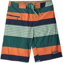 Patagonia Mens Stretch Wavefarer Boardshorts Fitz Stripe: Tasmanian Teal