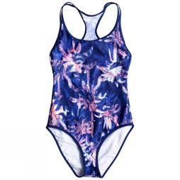 Roxy Women's Keep It ROXY One Piece Swimsuit Blue Depths Washed Palm