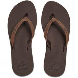 Reef Womens Cushion Luna Flip Flop Brown