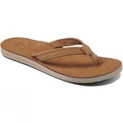 Reef Women's Voyage Lite Leather Flip Flop Tobacco