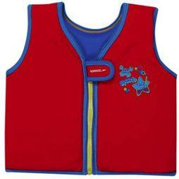 Speedo Sea Squad Float Vest  Red/ Neon Blue