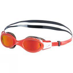 Speedo Youth Futura Biofuse Flexiseal Mirrored Goggle Black/Lava Red/Orange Gold