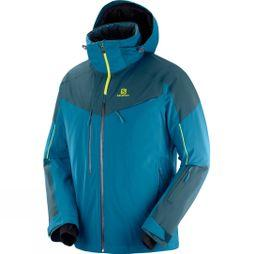 Salomon Mens Icespeed Jacket Moroccan Blue/ Reflecting Pond