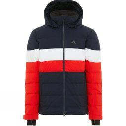 J.Lindeberg Mens Russel Down 2L Ski Jacket Racing Red/Navy/White