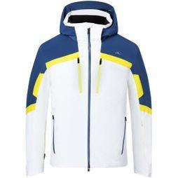 KJUS Men's Speed Reader Jacket White-Southern Blue