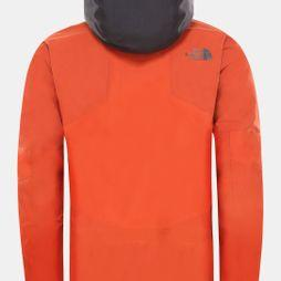 The North Face Mens Brigandine Futurelight Jacket Papaya Orange Fuse/Weathered Black Fuse