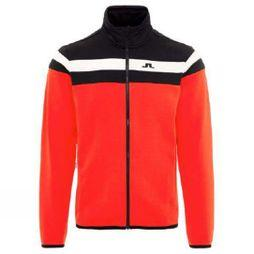 J.Lindeberg Mens Moffit Mid Tech Jacket Racing Red