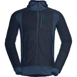 Norrona Mens Lofoten Alpha Raw Zip Hoodie Indigo Night