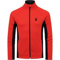 Spyder Mens Constant Tailored Full Zip Mid Weight Jacket Black/ Red