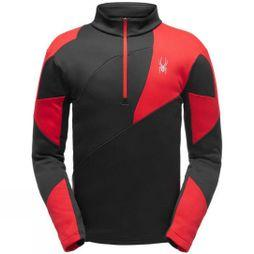 Spyder Mens Orion Zip T-Neck Fleece Black/ Red