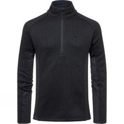 Spyder Mens Outbound Tailored Half-Zip Mid Weight Sweater  Black/ Black