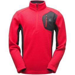 Spyder Mens Bandit Half Zip Stryke Sweater Red/ Black/ Black