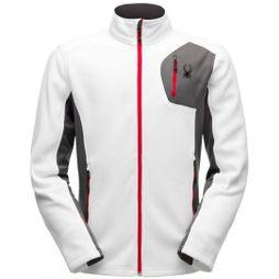 Spyder Mens Bandit Full Zip Stryke Jacket White/ Polar Grey/ Red