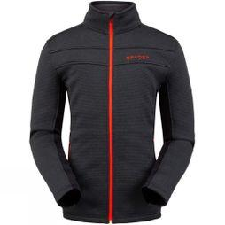 Spyder Men's Encore Full Zip Fleece Jacket BLK