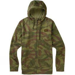 Burton Mens Crown Bonded Full-Zip Hoodie Seersucker Camo/ True Black