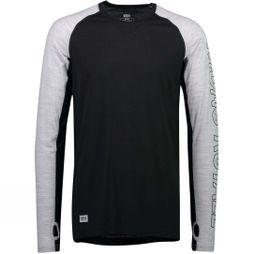 Mons Royale Men's Temple Tech LS Crew Black/Grey Marl