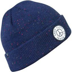 Planks Peace Beanie Dark Navy