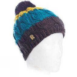 Riggler Mens Savoyen Beanie Dark Grey/ Blue/ Yellow