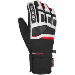 Reusch Mens Mastery Glove Black/White/Fire Red
