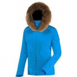 Henri Duvillard Womens Penia Faux Fur Jacket Ultra Blue