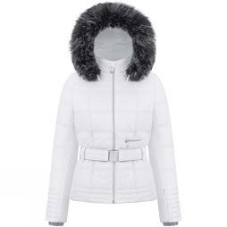 Poivre Blanc Womens Riva Faux Fur Jacket White