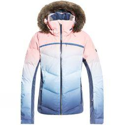 Roxy Womens Snowstorm Printed jacket Powder Blue Gradient